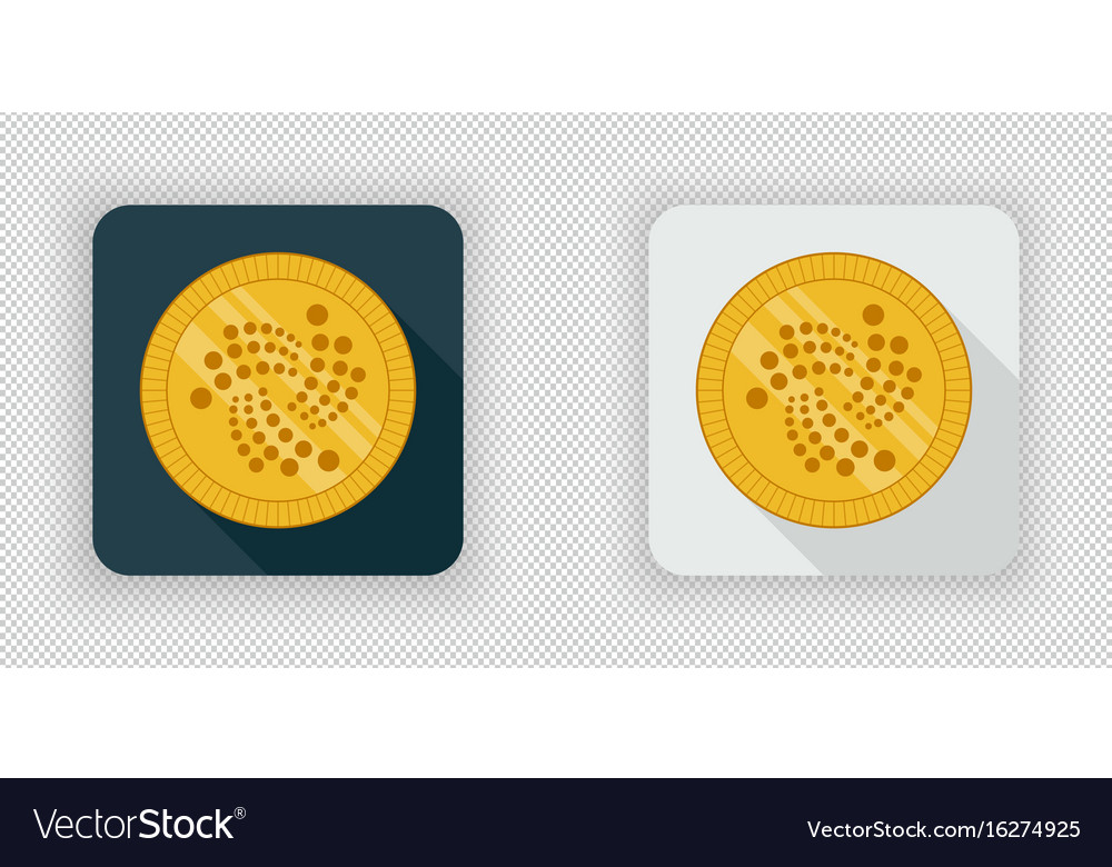 Light and dark iota crypto currency icon vector image