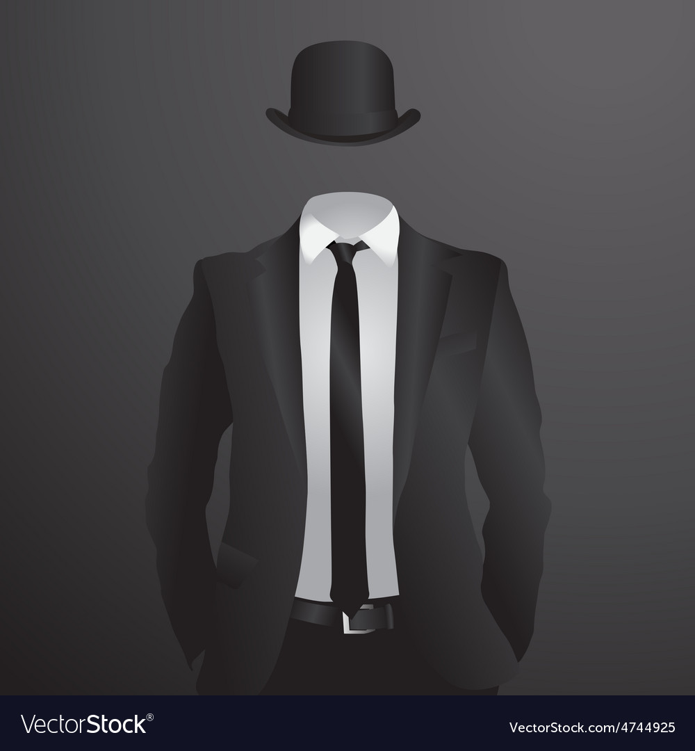 Male suit vector image