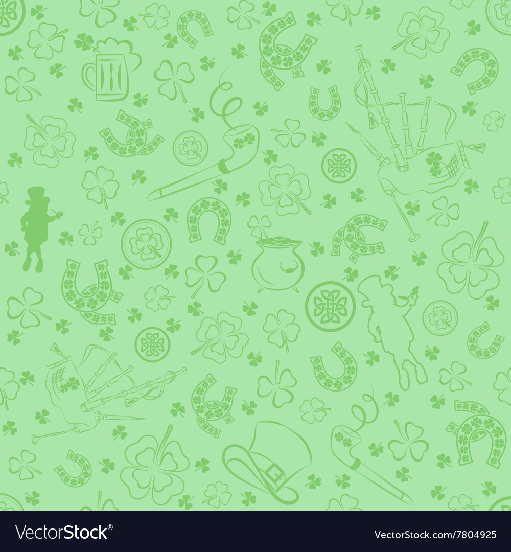 Seamless StPatricks day background vector image