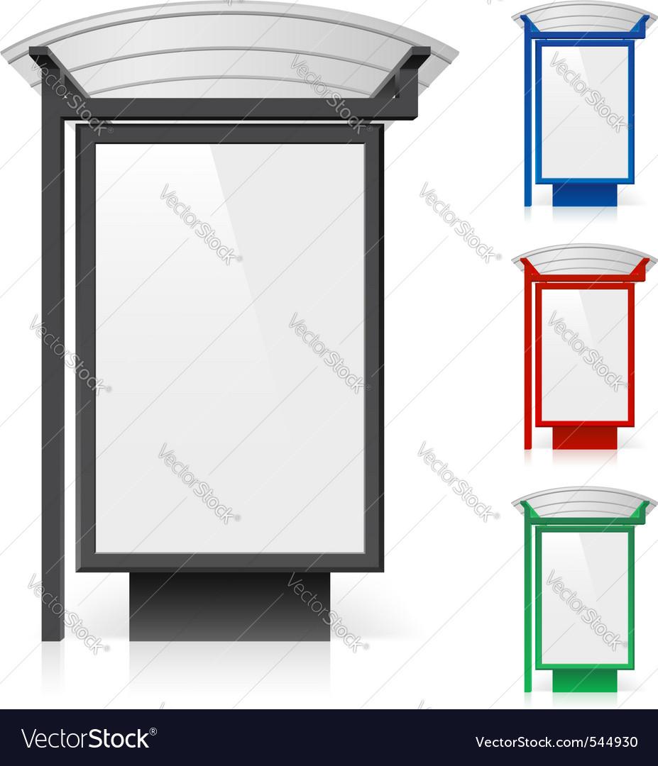 bus shelter billboard royalty free vector image
