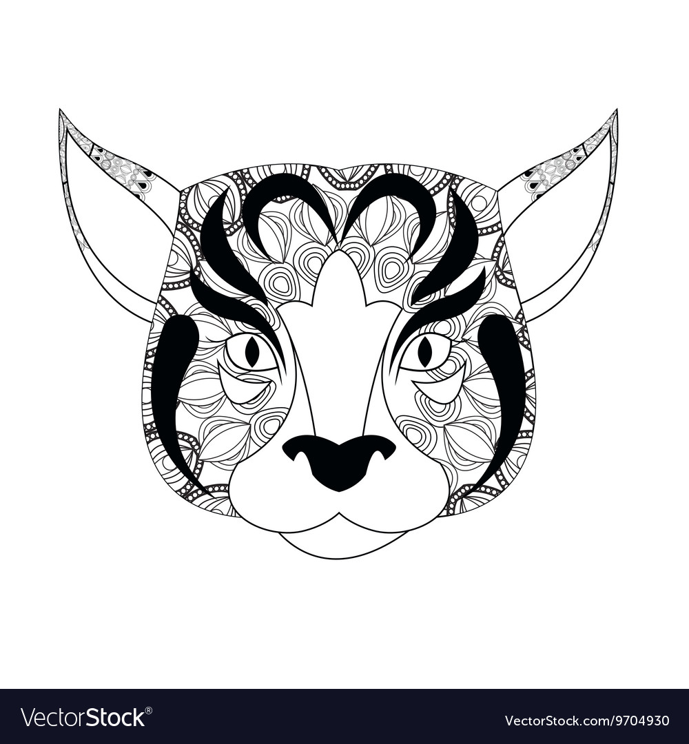 Dog icon Animal and Ornamental predator design vector image