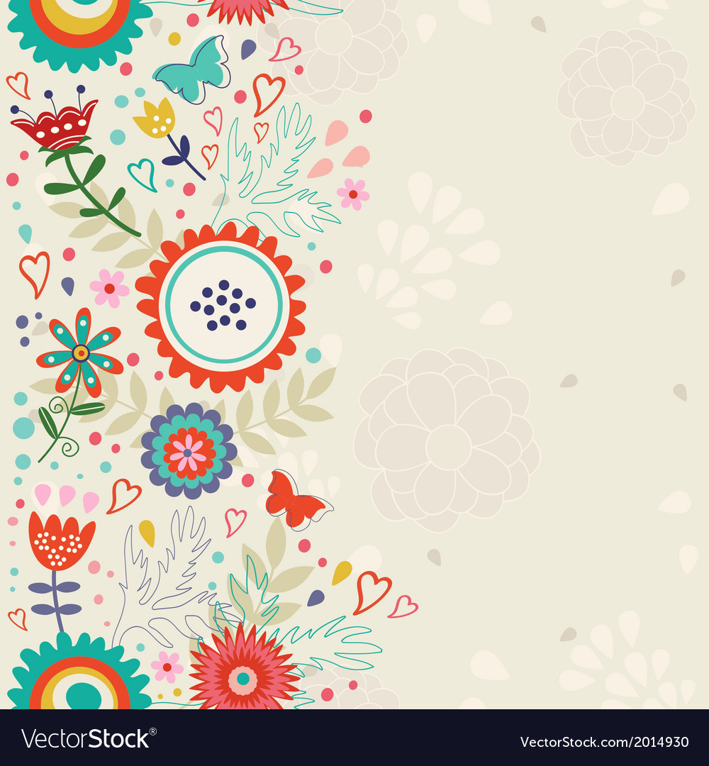 elegant floral background royalty free vector image