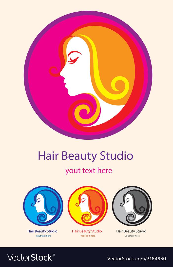 Hair beauty studio vector image