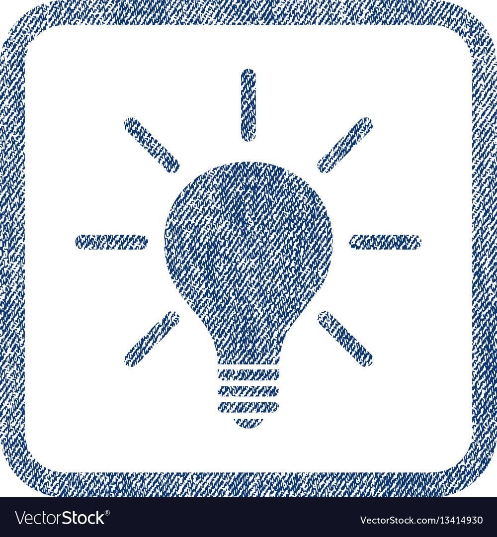 Light bulb fabric textured icon
