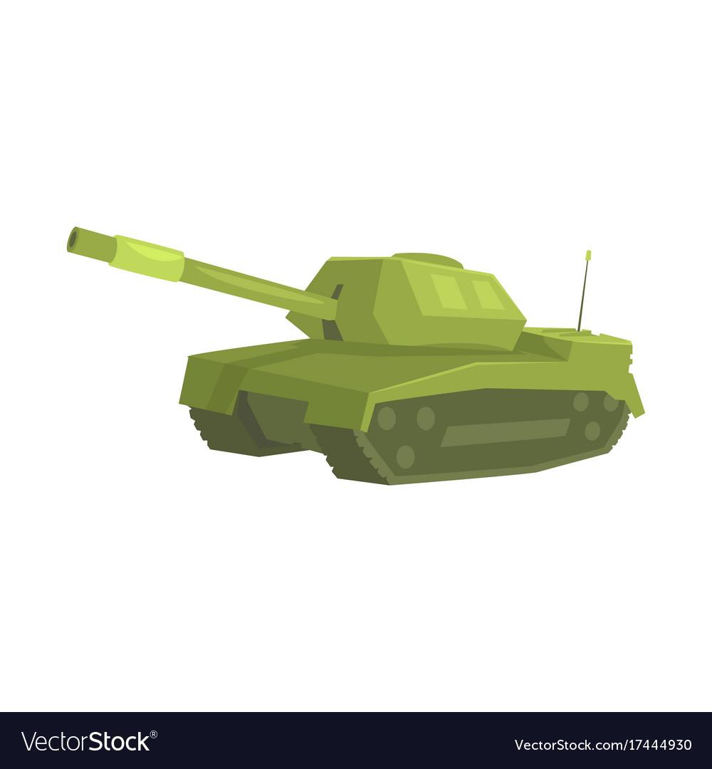 Military tank cartoon vector image