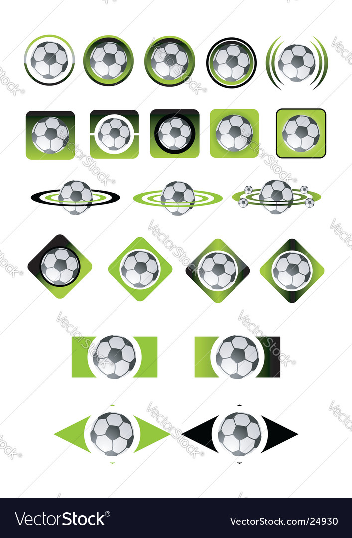 Soccer ball icons