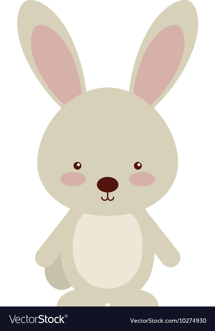 Woodland rabbit animal character cute icon vector image