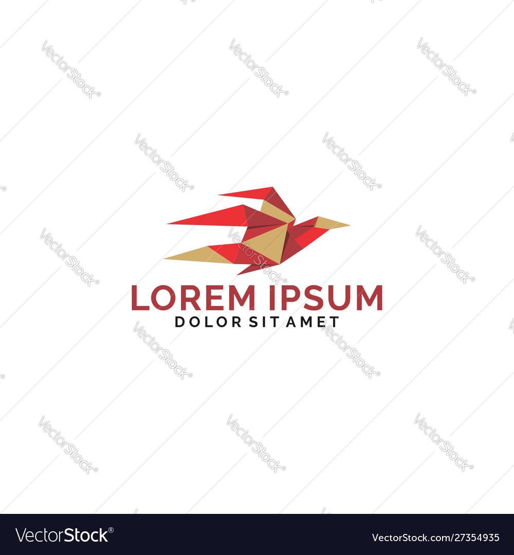 Bird low poly logo template