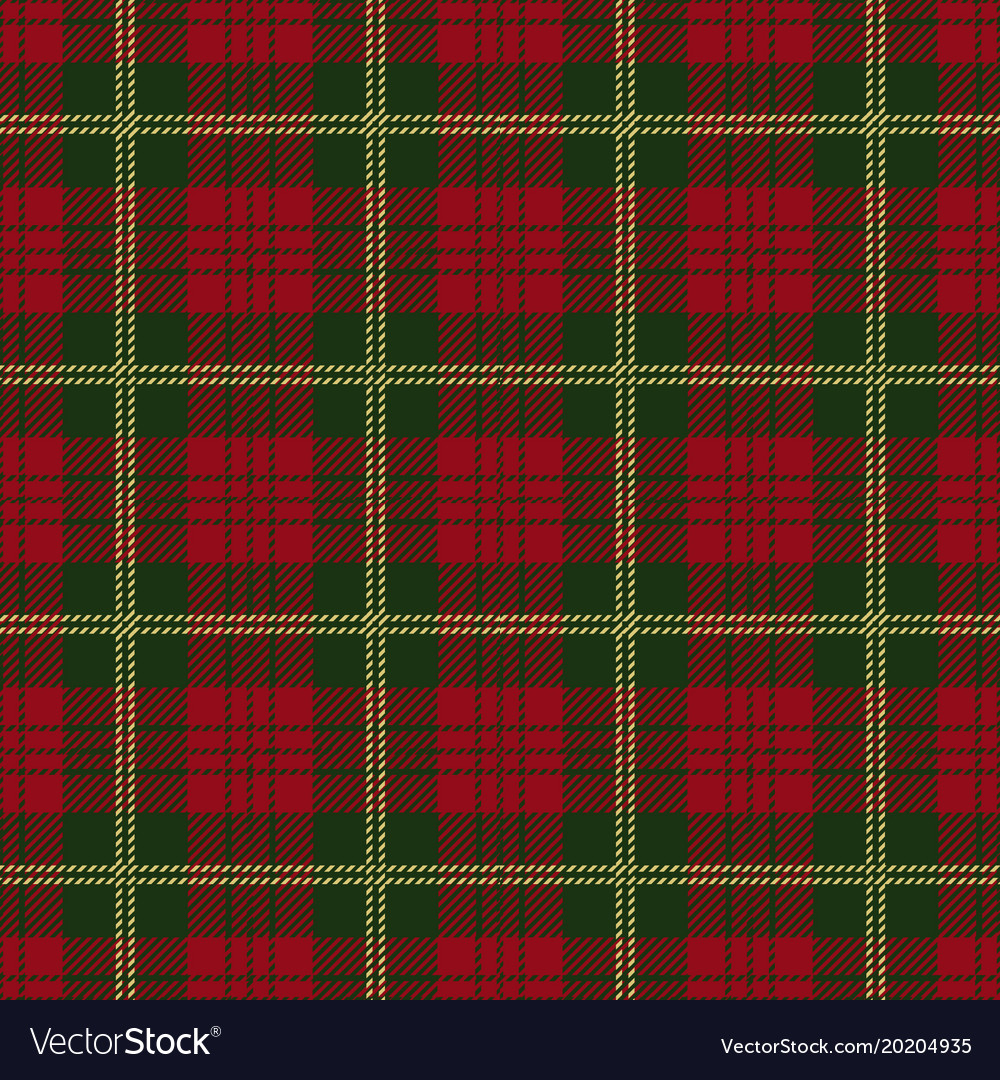 christmas tartan plaid seamless pattern vector image - Christmas Plaid