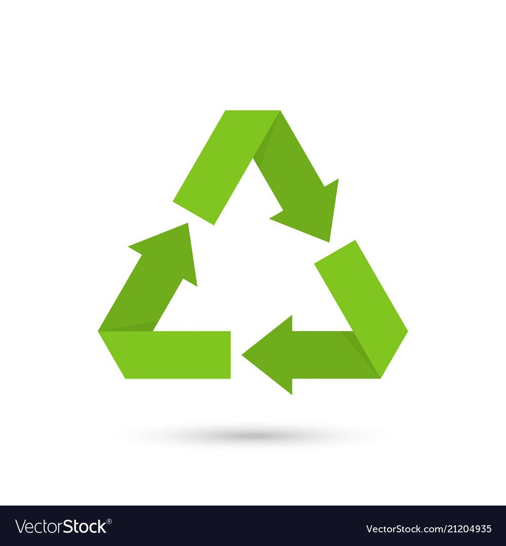 Eco recycled symbol