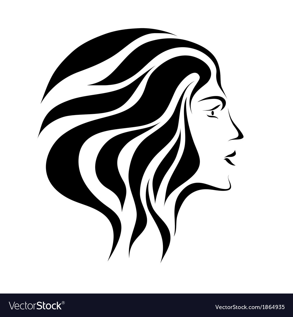 Free hand drawing abstract face vector image