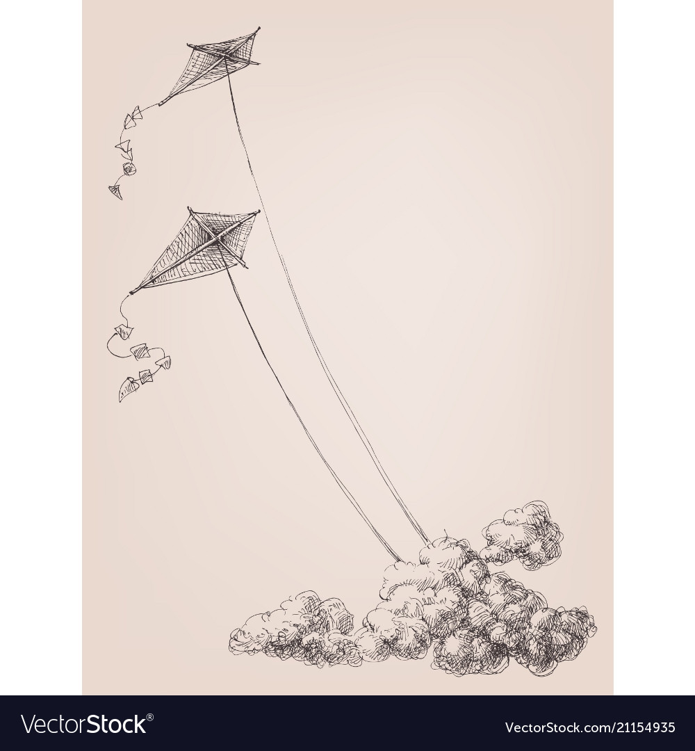 Kites in the sky over the clouds childhood joy
