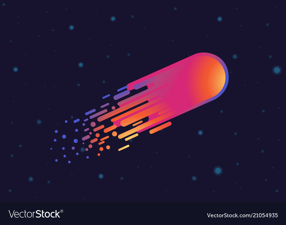 Modern design gradient comet in galaxy space