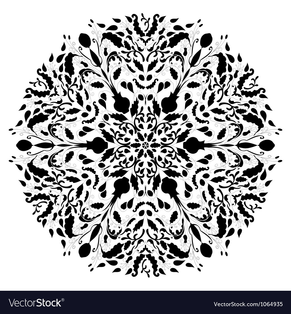 Black  White Lace Dress on Monochrome Black And White Lace Ornament Vector 1064935   By