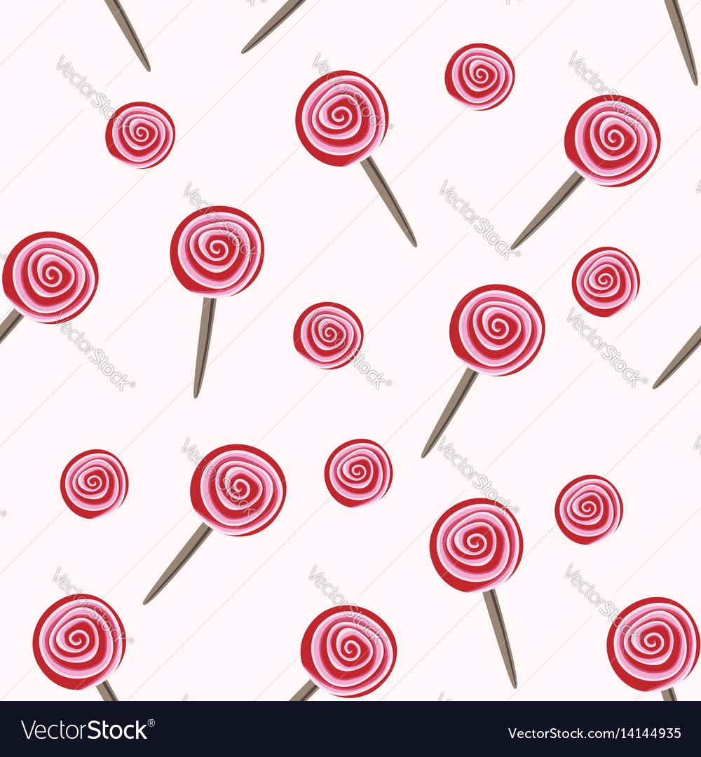 Red lollipops seamless pattern