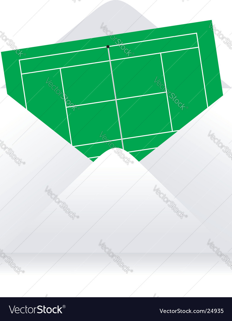 Tennis court delivery vector image