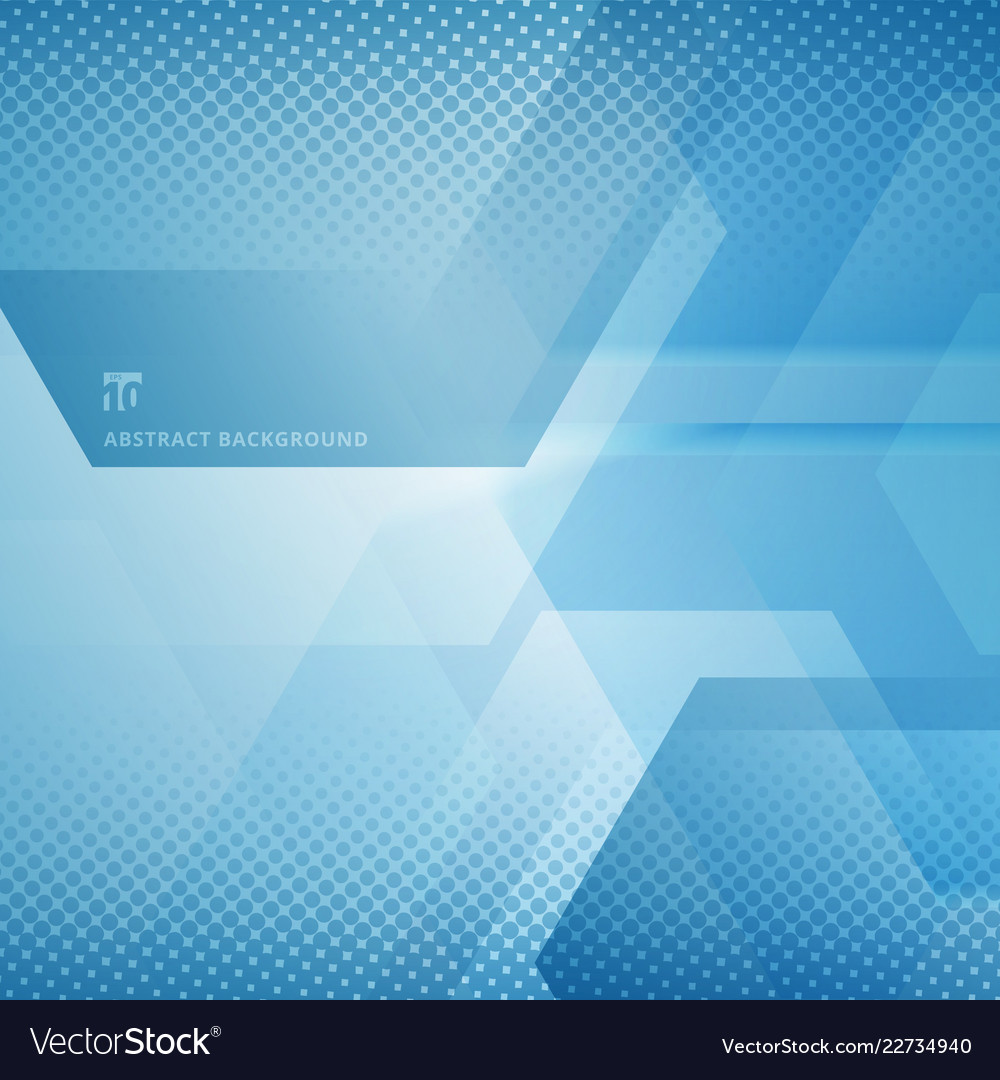Abstract geometric hexagons overlapping with