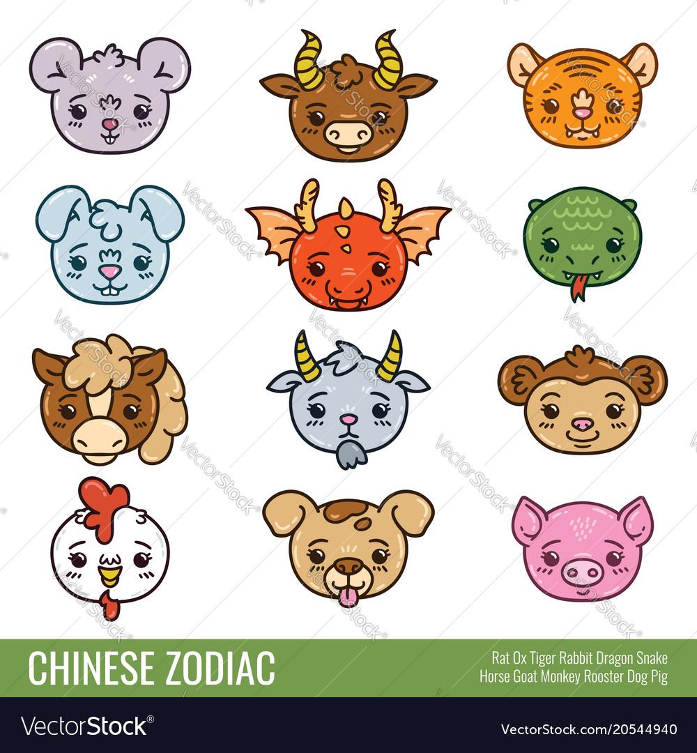 Cute chinese zodiac
