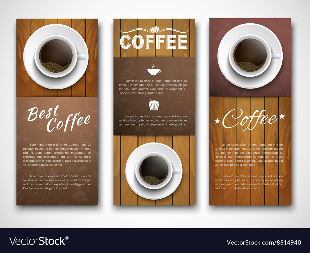 Design coffee banners with a cup of coffee