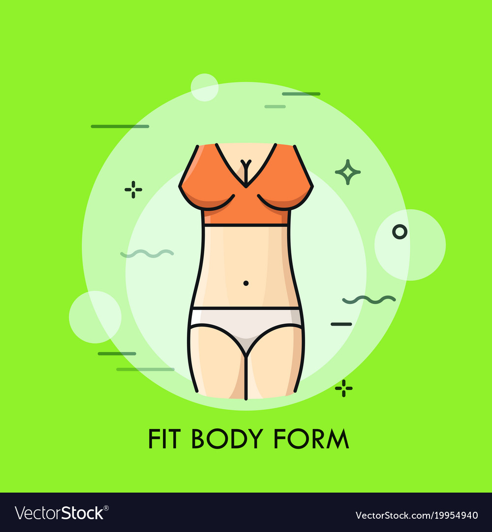 Fit body form thin line concept