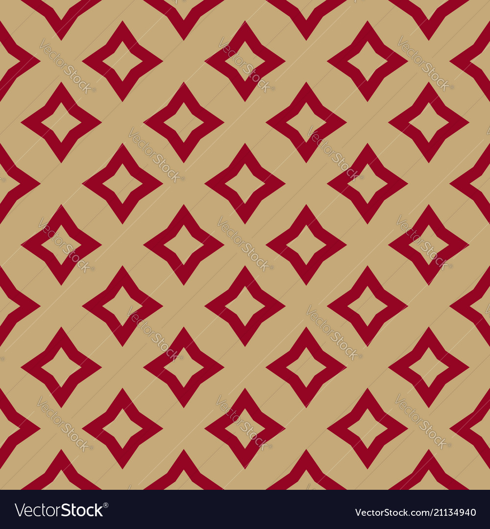 Luxury red and gold geometric seamless pattern