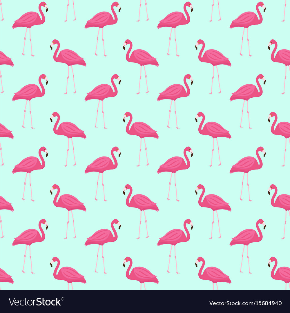 Pink flamingo seamless pattern summer tropical