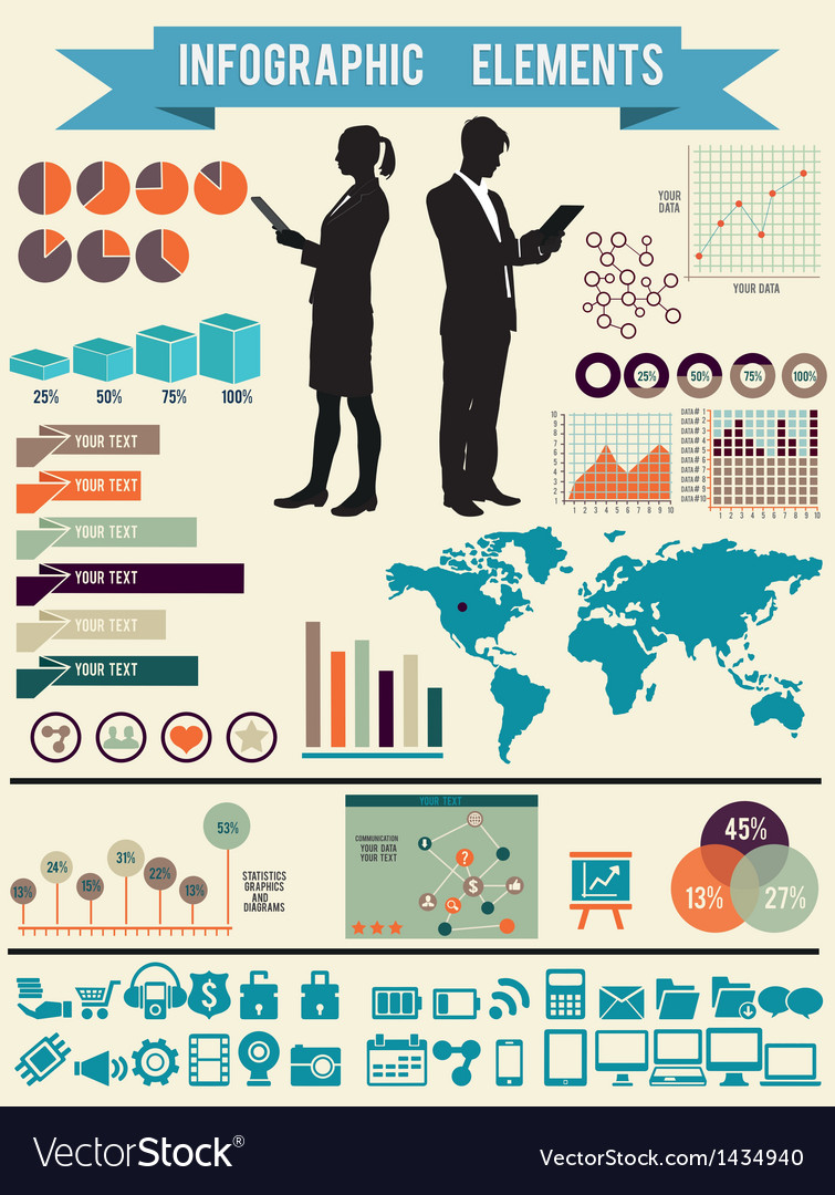 Set of infographic elements for design