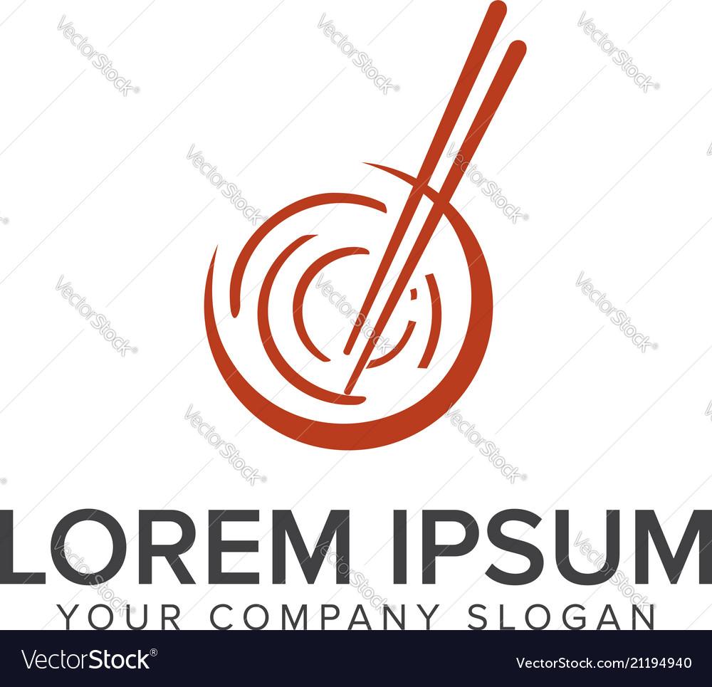 Sushi logo design concept template