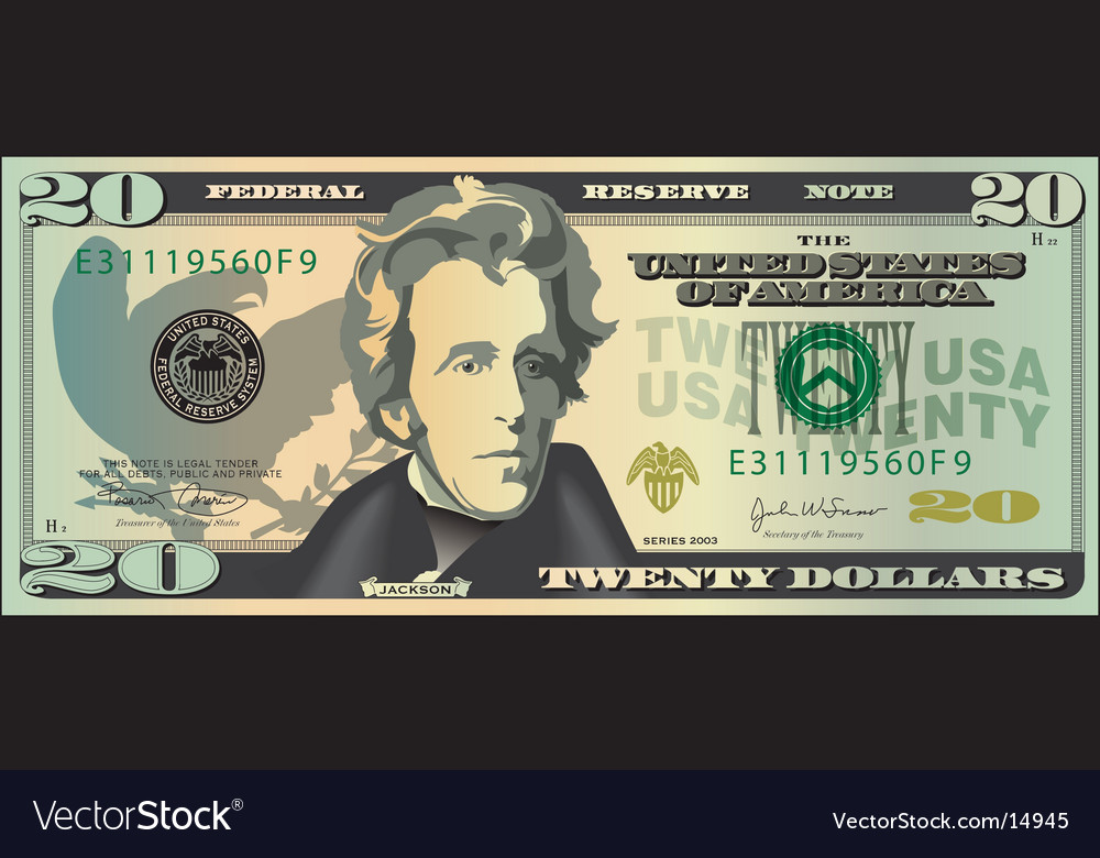 20 dollar bill clip art. 20 Dollar Bill Vector
