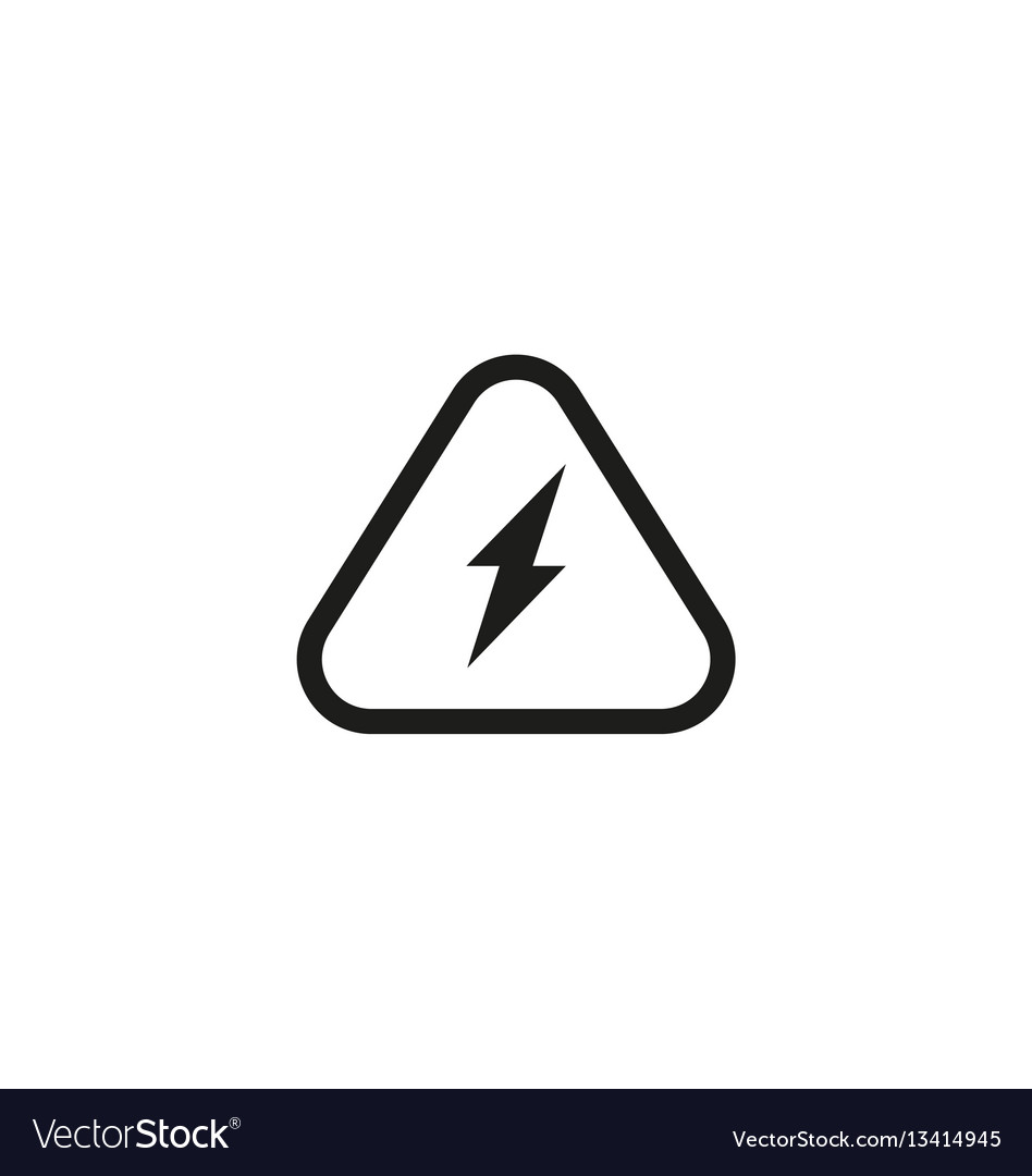 Attention electricity isolated symbol on white vector image on VectorStock