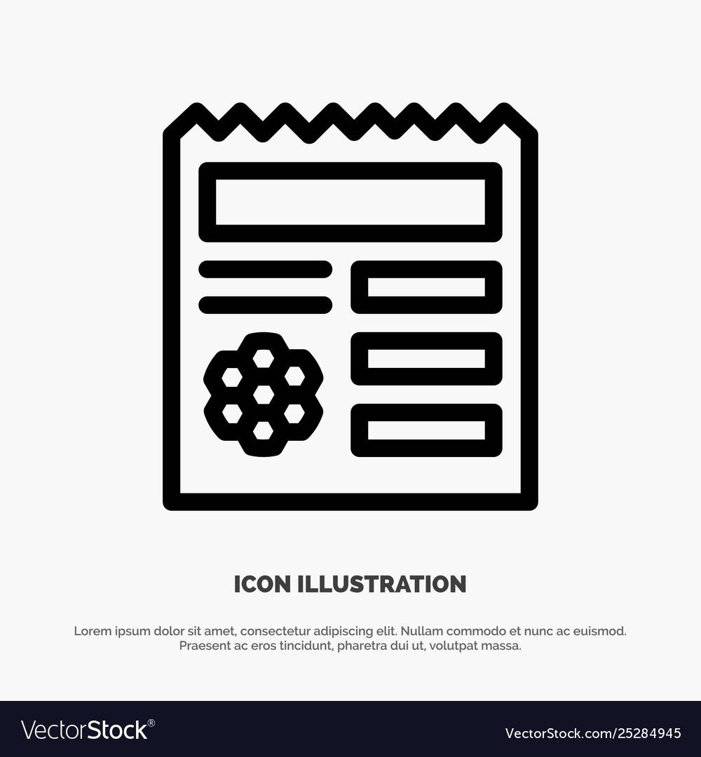 Basic Ui Manu Document Line Icon Royalty Free Vector Image