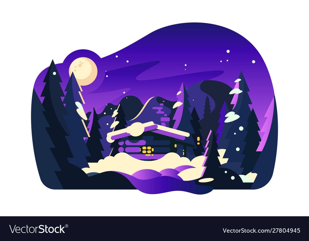 Beautiful winter hut