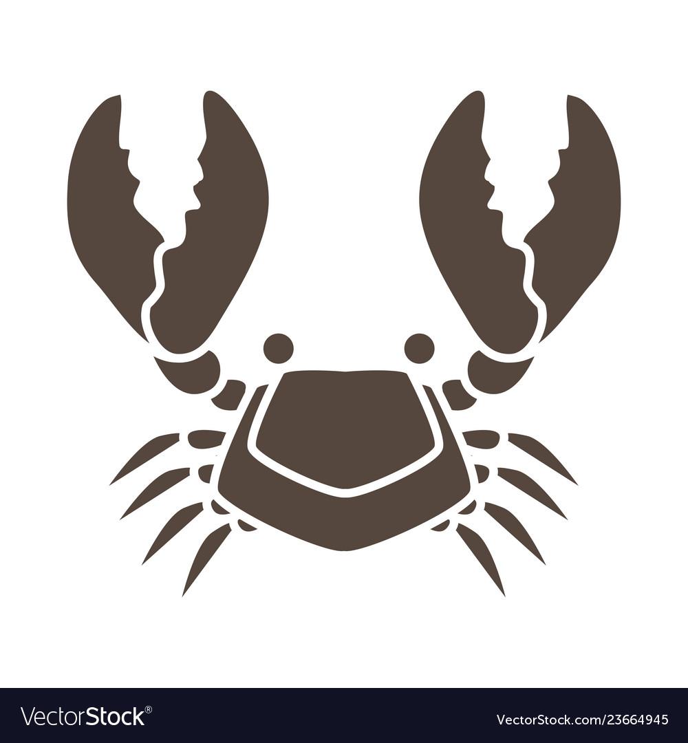 Crab cartoon icon graphic