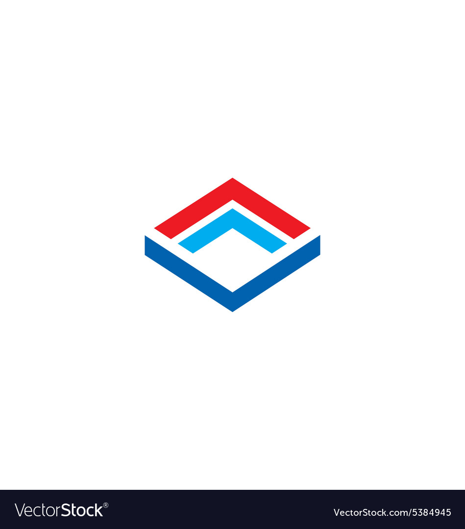 Cube construction technology business logo