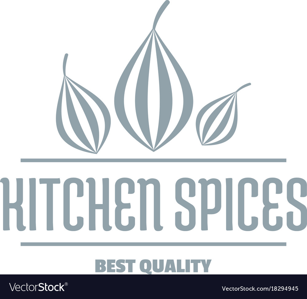 Eco kitchen spice logo simple gray style Vector Image