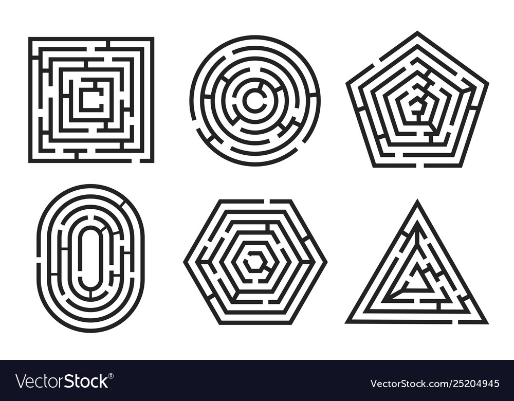 Labyrinth game and maze fun puzzle set