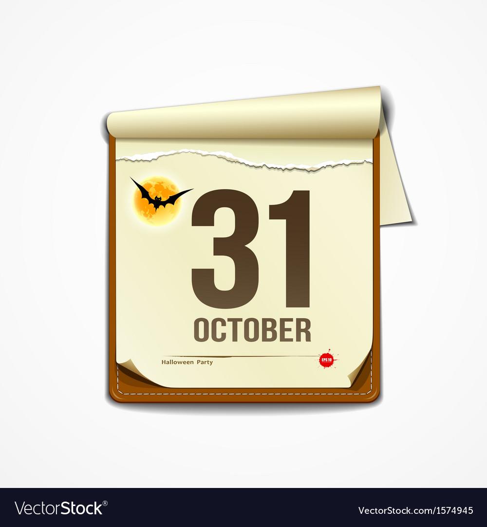 Paper October calender in halloween party