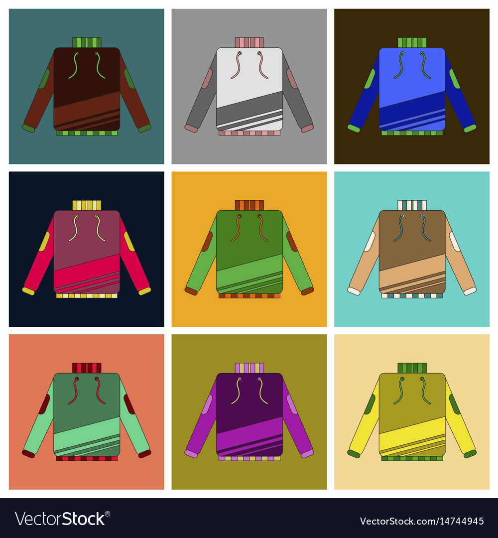 winter sportswear and equipment icon set skiing