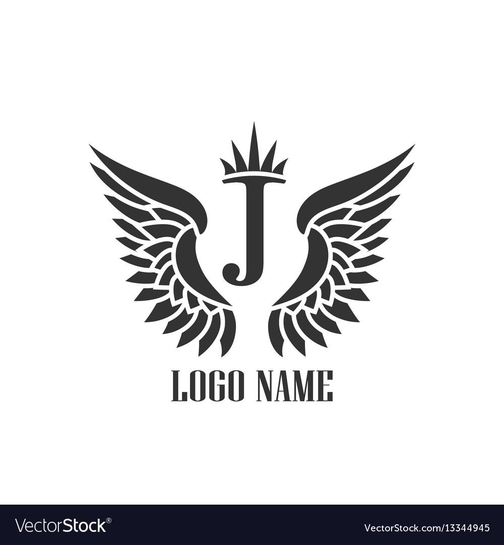 Wings black icons modern logo tamplate