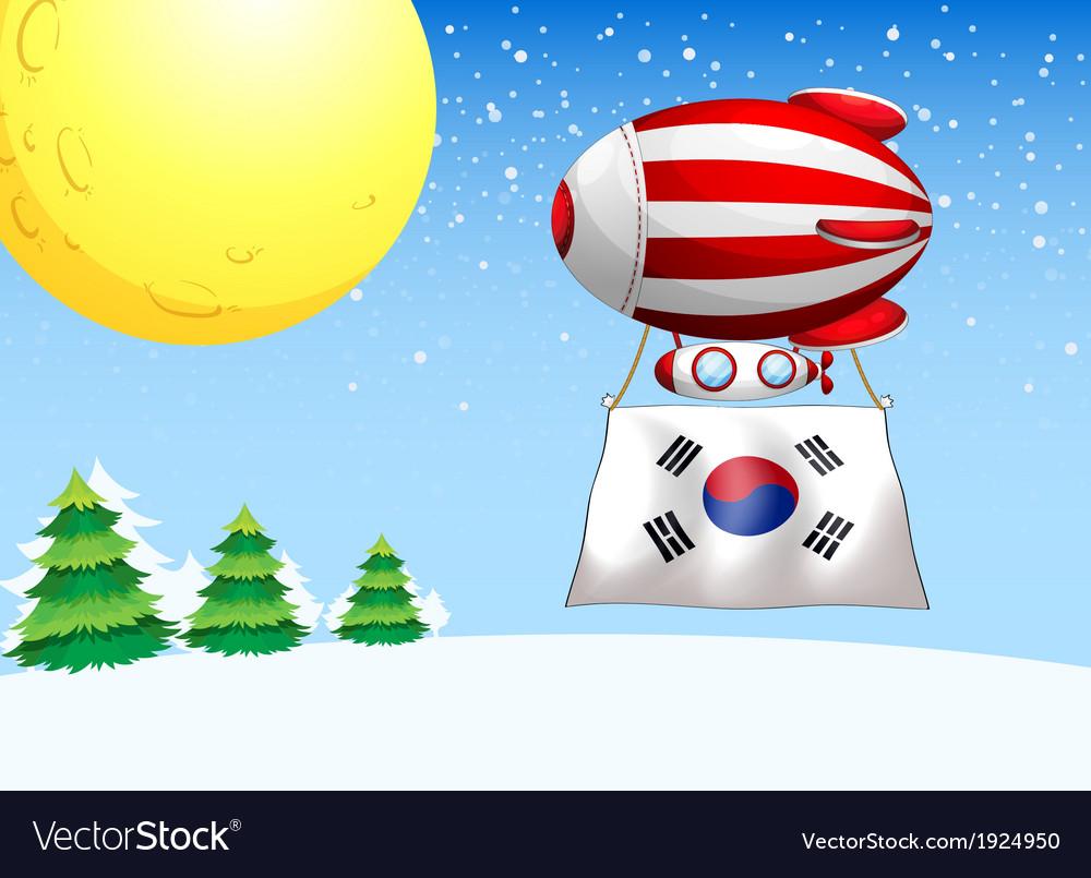 A balloon with the flag of South Korea