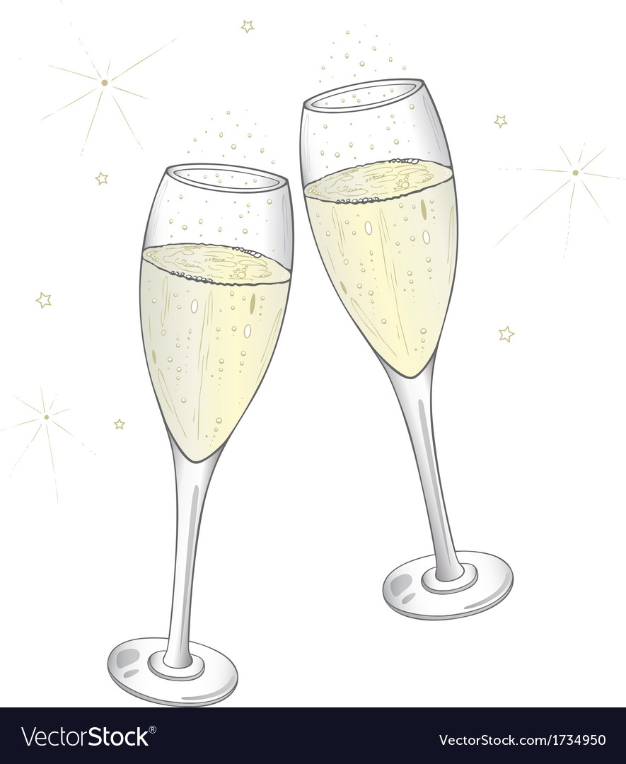 champagne flute cartoon vector images 43 - HD 885×1080