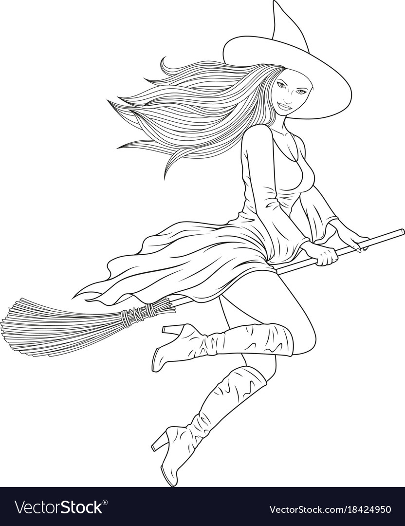 Coloring the beautiful witch