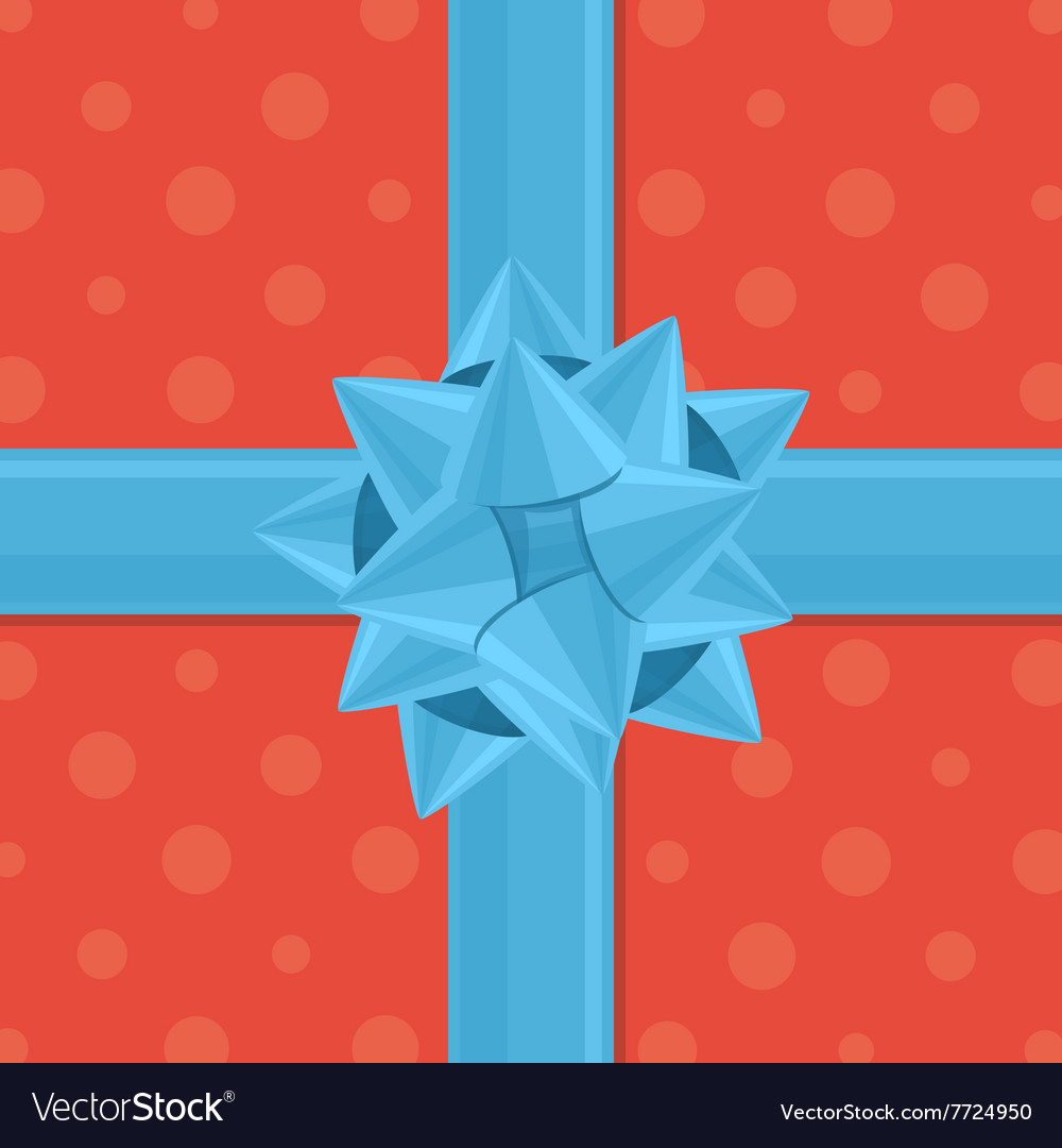 Gift wrapping with bow vector image
