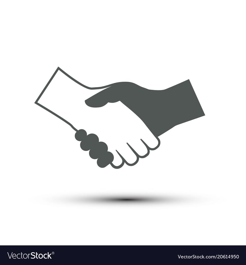 Hand shake icon deal symbol partnes design vector image
