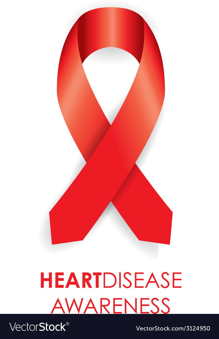 Heart Disease Ribbon Royalty Free Vector Image