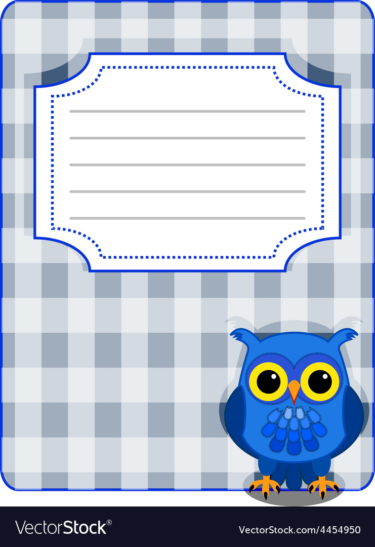 Owl gingham cover- blue and grey