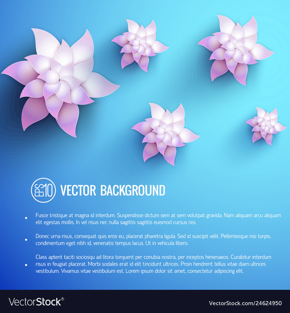 Realistic floral light poster