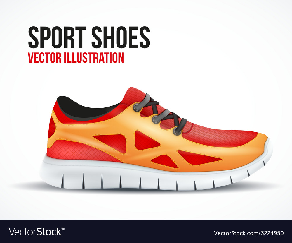 Running red shoes Bright Sport sneakers symbol