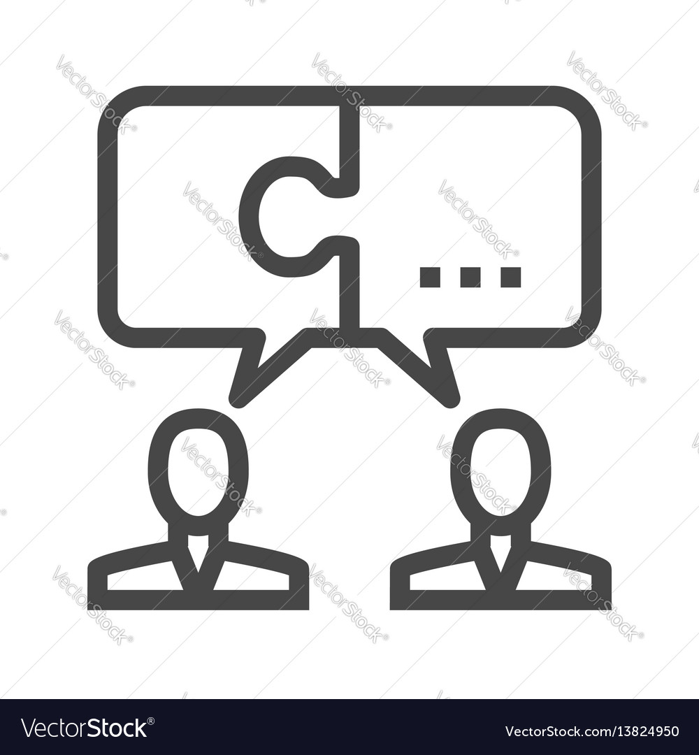 Solution thin line icon vector image