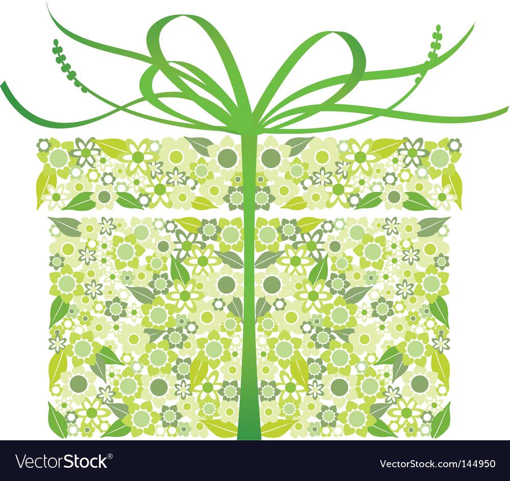 Stylized gift vector image